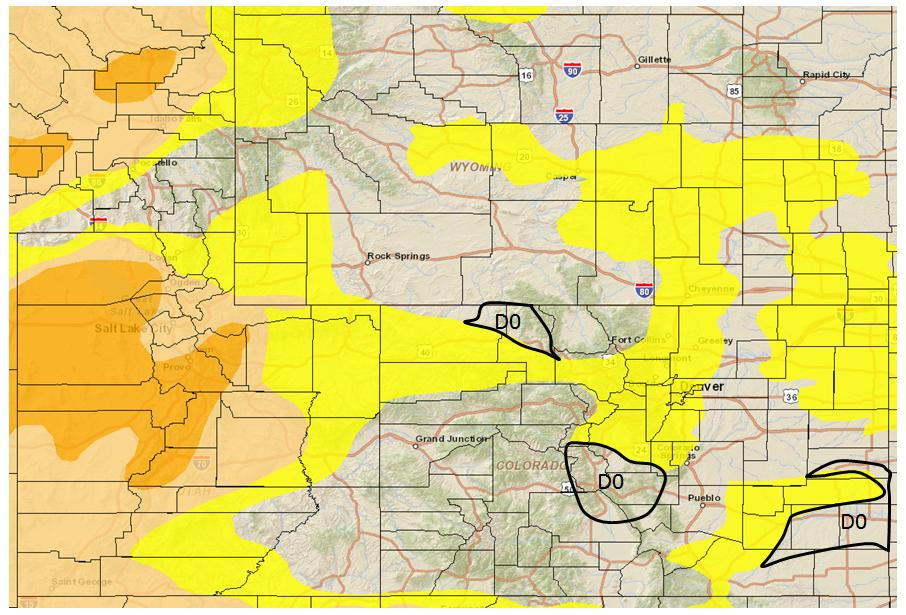 10/21/2015 NIDIS Drought and Water Assessment Summary for October 20, 2015: The pervading expansion of D0 looks to continue this week for eastern Colorado and the Upper Colorado River Basin.