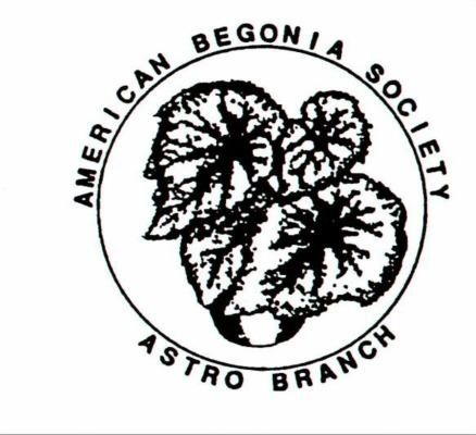 BEGONIA CHATTER Astro Branch American Begonia Society 4513 Randwick Drive Houston, Texas 77092-8343 (713) 686-8539 FEBRUARY 2019 ISSUE SEED PLANTING The February 6, 2019 meeting of the Astro Branch