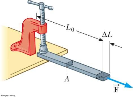 Young s Modulus: Elasticity in Length Tensile stress is the ratio of the external force to the