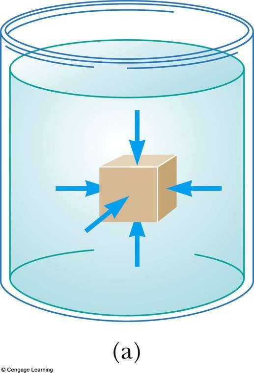 Pressure The force exerted by a fluid on a submerged object at any