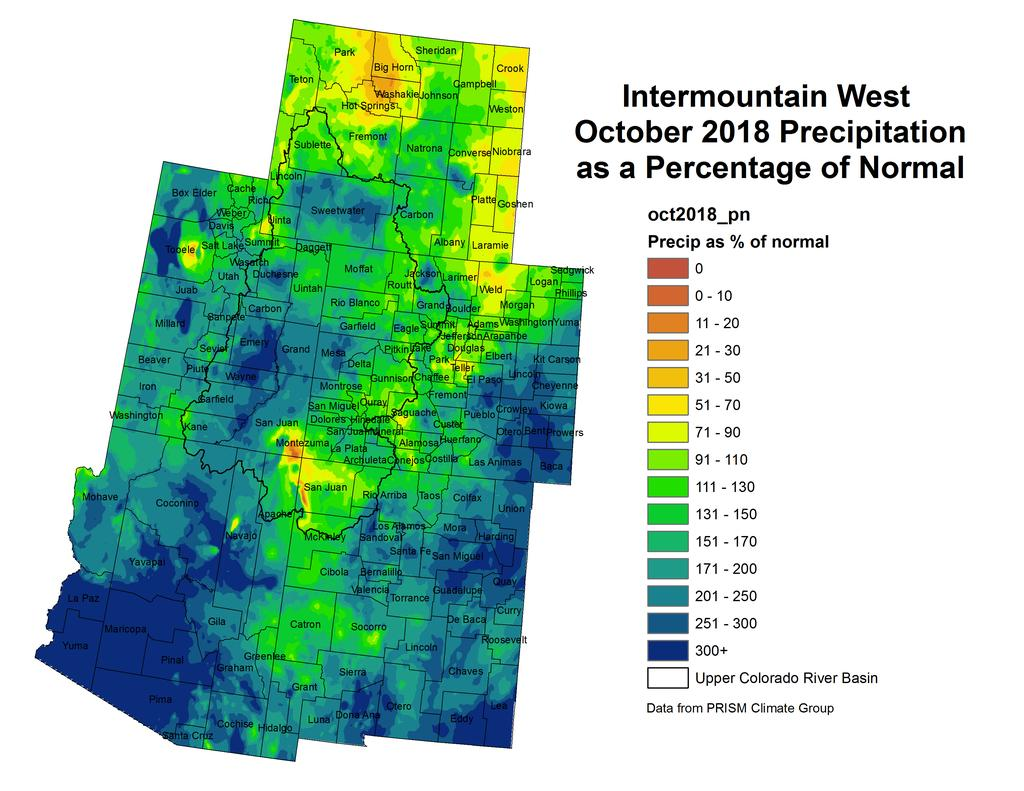 NIDIS Intermountain West Drought Early Warning System November 13, 2018 Precipitation The images above use daily precipitation statistics from NWS COOP, CoCoRaHS, and CoAgMet stations.