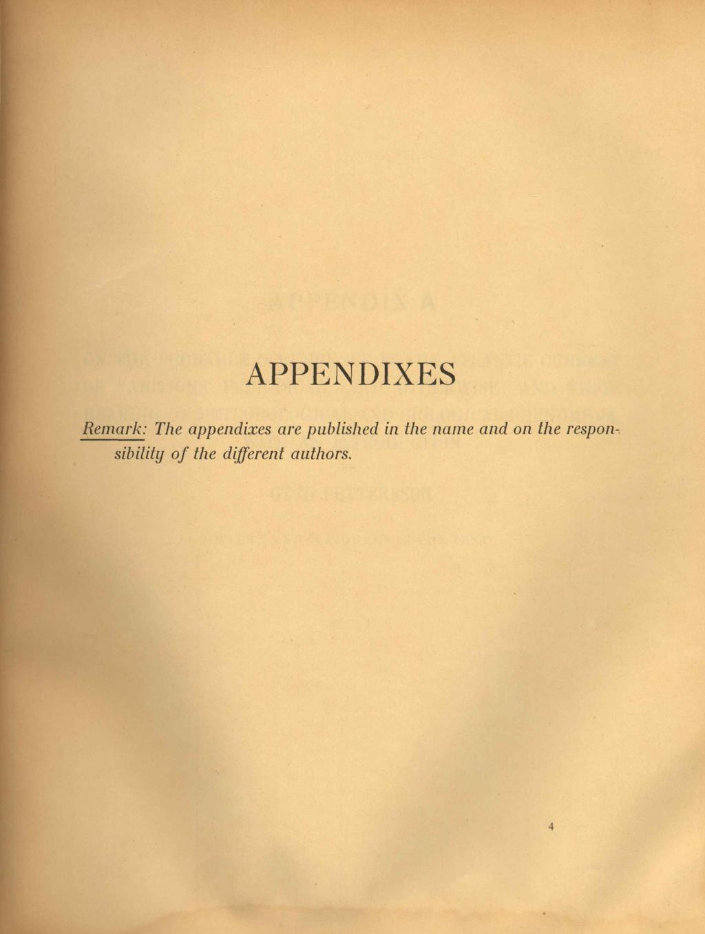 APPENDIXES Remark: The appendixes are published in the