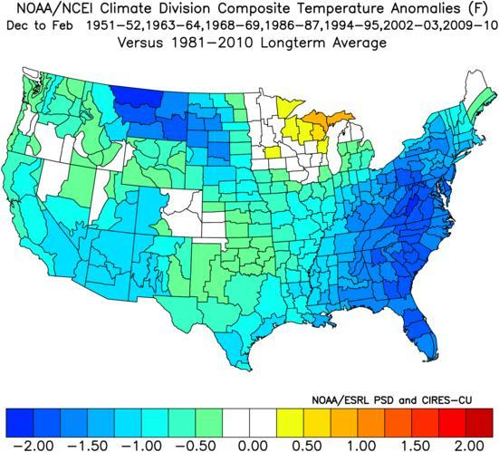 Here is a moderate El Nino: As you can see in a Moderate El