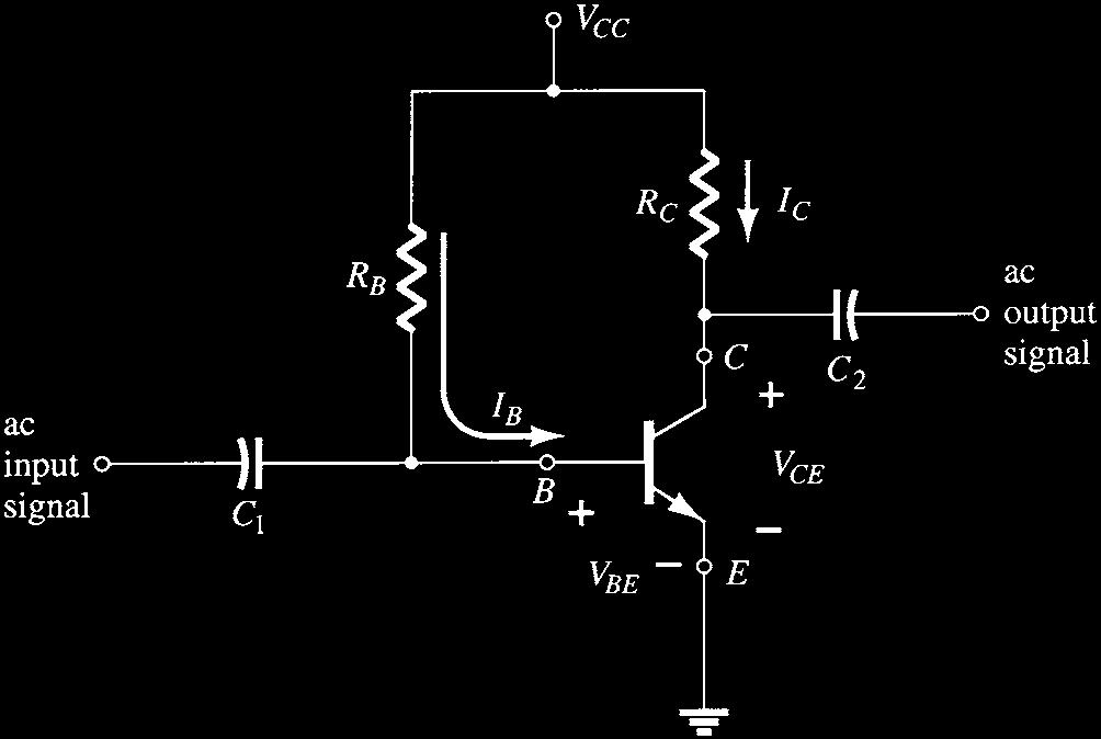 Even though the network employs an npn transistor, the equations and calculations apply equally well to a pnp transistor configuration merely by changing all current directions and voltage polarities.