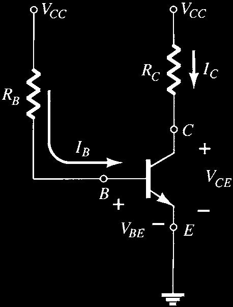 For the dc analysis the network can be isolated from the indicated ac levels by replacing the capacitors with an open-circuit equivalent because the reactance of a capacitor is a function of the