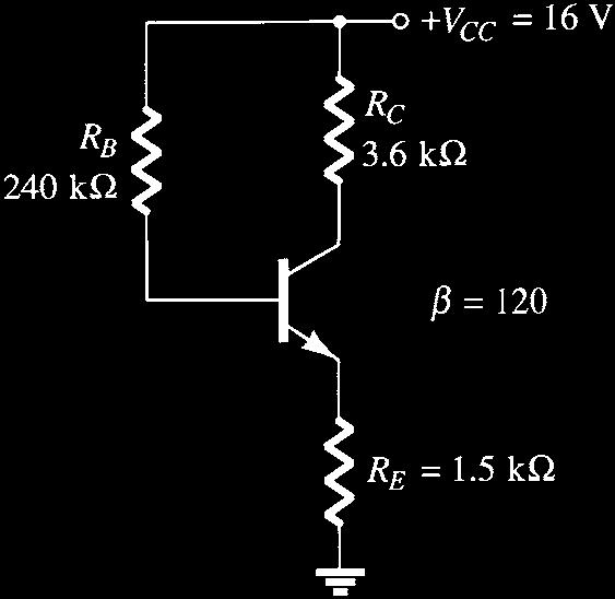 e. What happens to V CE if the transistor is replaced by one with smaller b? 63. Answer the following questions about the circuit of Fig. 4.158 : a.