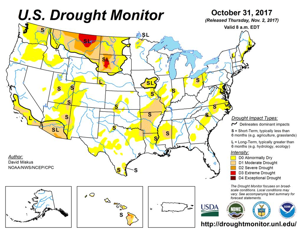 Drought Update Colorado remains mostly drought-free, aside from a small area of moderate along the Western Slope near the Utah border.