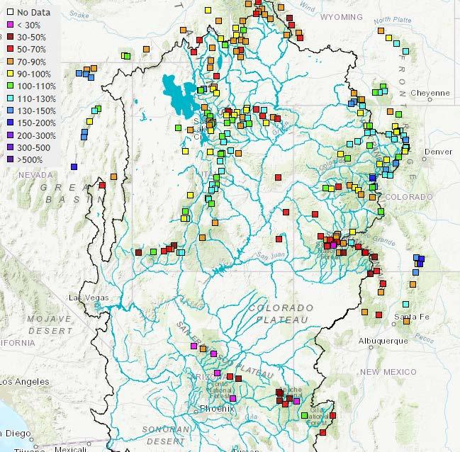 WATER SUPPLY CONDITIONS UPDATE / REVIEW WINTER 2018 Page 3 of 7 This regional water supply outlook is consistent with current snowpack conditions at SNOTEL sites throughout the basin; these are shown