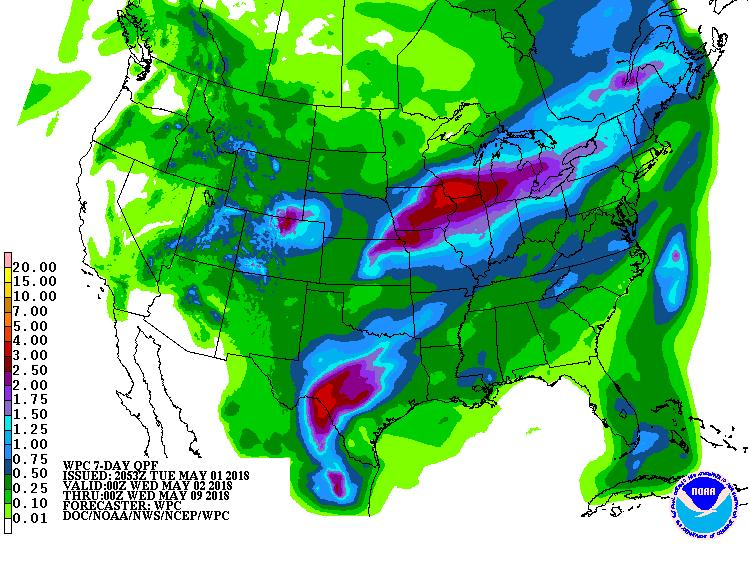 NWS 7-day precipitation forecast http://www.wpc.ncep.noaa.