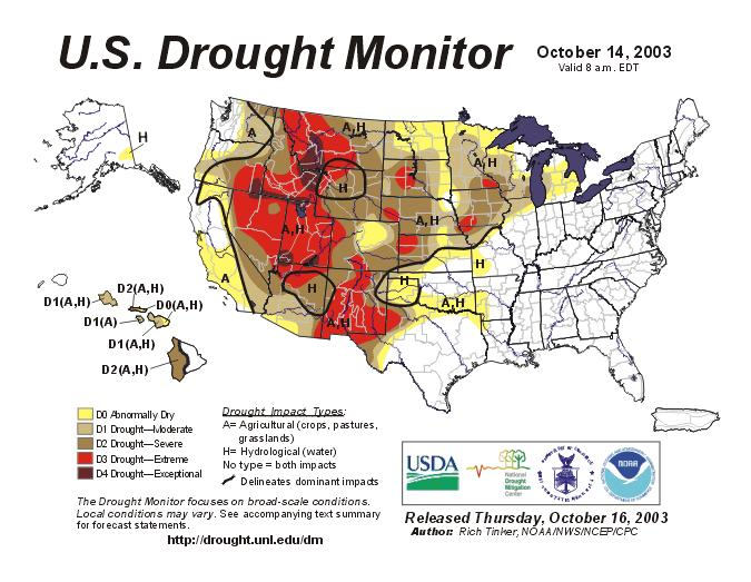 U.S. Drought Monitor http://www.
