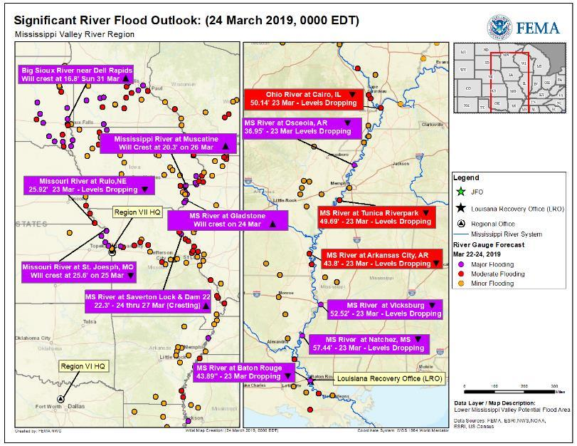 Flooding Central U.S. Current Situation Flooding concerns continue for the Missouri River basin as the flooding continues to move downstream.